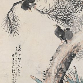 "11 Qi Baishi Starlings and Narcissuses ink and color on paper 85 × 48 cm 1894 in the collection of Beijing Fine Art Academy 290x290 - ""Living by Selling Texts Instead of Farming – Qi Baishi's Calligraphic Implication II"" opened at Beijing Fine Art Academy"