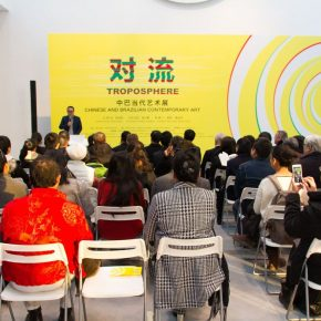 "12 View of the opening ceremony 290x290 - Brazilian Art Landed in China: ""Troposphere"" Chinese and Brazilian Contemporary Art Exhibition opened"