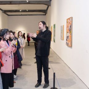 "13 Bao Dong guided the audiences to visit the show 290x290 - Brazilian Art Landed in China: ""Troposphere"" Chinese and Brazilian Contemporary Art Exhibition opened"