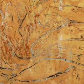 "14 Exhibition view of ""Living Natures – Liu Shangying"" at the ruins of the red town an ancient pass of the Han Dynasty in the E'jina Desert 290x290 - Living Nature – Liu Shangying's Action Painting"