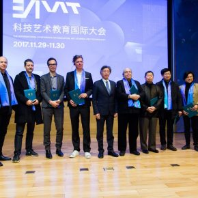 14 Group photo of Fan Di'an President of CAFA and the distinguished experts 1 290x290 - EAST–International Conference on Education, Art, Science and Technology was held