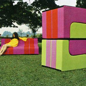 "Superstudio Sofa Poltronova 1968 modular sofa ©Toraldo di Francia 290x290 - The Power Station of Art presents ""Superstudio 50"" in Shanghai"