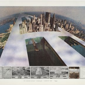 """Superstudio The Continuous Monument New New York 1969 lithograph Collection MAXXI 290x290 - The Power Station of Art presents """"Superstudio 50"""" in Shanghai"""