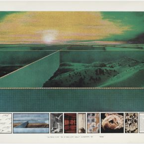 """Superstudio The Twelve Ideal Cities. First City 2000 ton City 1971 lithograph Collection MAXXI 290x290 - The Power Station of Art presents """"Superstudio 50"""" in Shanghai"""