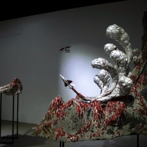 """Yi Min Huang Shang Jai Phoenix Tail Styrofoam Cement Pulp Metal Wood 2016 Dimensions Variable 1 290x290 - Taipei Fine Arts Museum presents the exhibition featuring """"2017 Taipei Art Awards"""""""