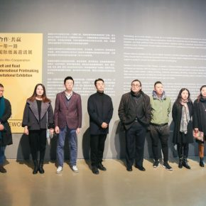 "01 Group photo of the honored guests 1 290x290 - Diverse Styles and Beautiful Forms: ""Win-Win Cooperation Belt and Road International Printmaking Invitational Exhibition"" Opened"