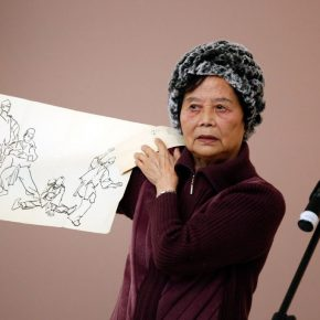"05 Ye Mingming a representative of Ye Qianyu's family and his daughter 290x290 - Drawing the Spirit: ""Is It Simply Sketching? – A Case Study of Ye Qianyu Part I"" has opened"