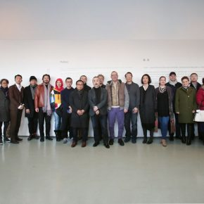 """08 Group photo of the honored guests 290x290 - Growing in Convergence, Finding Differences in the Growth: """"Rhizome—A Subject for the Survey of Chinese Contemporary Arts"""" opened"""