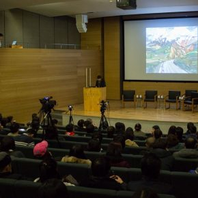 10 View of the lecture 290x290 - Fan Di'an, Olivier Kaeppelin, Liu Shangying: Living Natures – Art and Nature