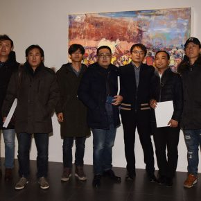 "11 Group photo of the honored guests 290x290 - Seeing Introspection from the Outside: ""Flowing Monologues"" Shi Yu's Solo Exhibition Opened"