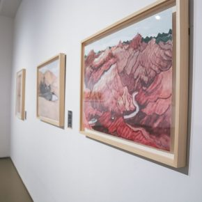 "14 Installation view of the exhibition 4 290x290 - Diverse Styles and Beautiful Forms: ""Win-Win Cooperation Belt and Road International Printmaking Invitational Exhibition"" Opened"