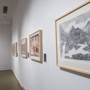 "15 Installation view of the exhibition 4 290x290 - Diverse Styles and Beautiful Forms: ""Win-Win Cooperation Belt and Road International Printmaking Invitational Exhibition"" Opened"