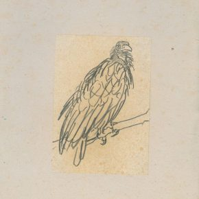 "17 Ye Qianyu Eagle pencil on paper 17.4 × 12 cm 1954 290x290 - Drawing the Spirit: ""Is It Simply Sketching? – A Case Study of Ye Qianyu Part I"" has opened"