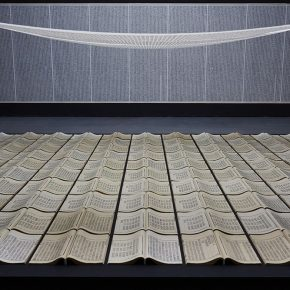 "21 Book from the Sky 1987 1991 at the United Art Museum Wuhan. Mixed Media Installation 290x290 - ""Xu Bing"": The Art View and Action Logic of a Fatalist"
