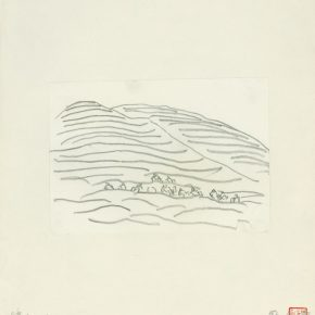 "26 Ye Qianyu Mu Mountain pencil on paper 12 × 17 cm 1984 290x290 - Drawing the Spirit: ""Is It Simply Sketching? – A Case Study of Ye Qianyu Part I"" has opened"