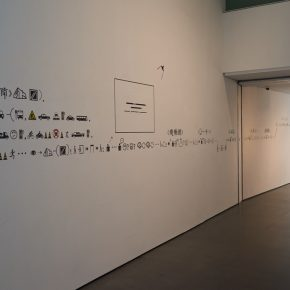 """27 Xu Bing used the characters in Book from the Ground to guide the exhibition at the United Art Museum Wuhan. 290x290 - """"Xu Bing"""": The Art View and Action Logic of a Fatalist"""