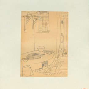 "30 Ye Qianyu A Farmhouse Pot Table in Beijing pencil on paper 18.1 × 13.1 cm 1948 290x290 - Drawing the Spirit: ""Is It Simply Sketching? – A Case Study of Ye Qianyu Part I"" has opened"