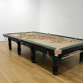 """31 Xu Zhen MadeIn Company Dual Game pool table plaster 382 × 204 × 85 cm 2009 290x290 - Growing in Convergence, Finding Differences in the Growth: """"Rhizome—A Subject for the Survey of Chinese Contemporary Arts"""" opened"""