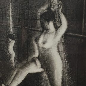 "Dong Huiping,Bathroom,Etching,51x25cm ,2001 290x290 - ""In the Mood for Love – An Exhibition Featuring Chinese and Canadian Female Artists"" Opening at Poly Culture Art Center"