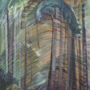 "Emily carr,Sunshine,Oil on paper on canvas ,96.5x61cm ,1938埃米莉·卡尔 《阳光》油画 96.5x61cm 1938  290x290 - ""In the Mood for Love – An Exhibition Featuring Chinese and Canadian Female Artists"" Opening at Poly Culture Art Center"