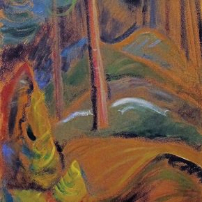 "Emily carr ,Forest Glade,Oil on paper on canvas,45.7x30.5cm 埃米莉·卡尔《林间空地》油画 45.7x30.5cm 290x290 - ""In the Mood for Love – An Exhibition Featuring Chinese and Canadian Female Artists"" Opening at Poly Culture Art Center"