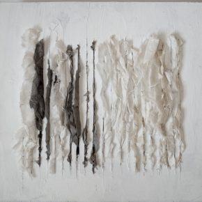 Lin Yan Lin Yan Drizzling 4 12 x 12 x 2 in. Xuan paper and ink on sheetrock board 2017. ©2017 Lin Yan courtesy Fou Gallery. 290x290 - Lin Yan at Gallery Fou
