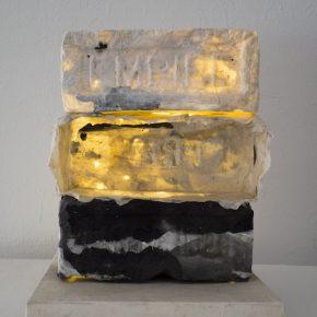 Lin Yan Sparse Dream in Brooklyn 2015. Xuan paper ink and string lights. 30x23x23cm ©2017 Lin Yan courtesy Fou Gallery 290x290 - Lin Yan at Gallery Fou