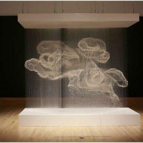 """Xiaojing Yan Spirit Cloud 2016 Installation freshwater pearl filament aluminum 120x360x300cm 290x290 - Suzhou Museum announces """"Auspicious Omens – Xiaojing Yan Solo Exhibition"""" opening on January 19"""