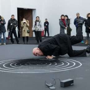 "04 Nigel Rolfe performed the ""Dissonance at the Red Brick Art Museum  290x290 - ""The Time is Now"": Nigel Rolfe's Performance Art Debuts in China"
