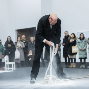 "05 Nigel Rolfe performed the ""Dissonance at the Red Brick Art Museum  290x290 - ""The Time is Now"": Nigel Rolfe's Performance Art Debuts in China"