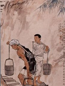 24 Xu Beihong Ba People Draw Water ink and color on paper 294 x 63 cm 1937 in the collection of Xu Beihong Memorial Hall  217x290 - Reproduction of Realism: Xu Beihong's 118 Representative Works Debut at NAMOC