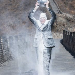 "25 Nigel Rolfe performed the ""Ghost of the Air – The Great Wall"" at the Great Wall 290x290 - ""The Time is Now"": Nigel Rolfe's Performance Art Debuts in China"