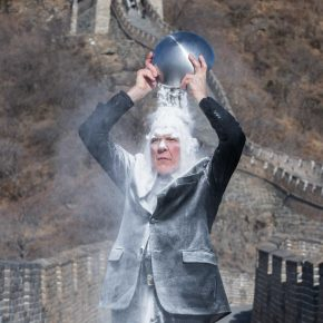 "27 Nigel Rolfe performed the ""Ghost of the Air – The Great Wall"" at the Great Wall 290x290 - ""The Time is Now"": Nigel Rolfe's Performance Art Debuts in China"