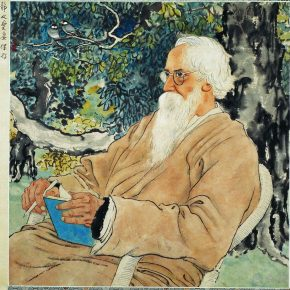 30 Xu Beihong Portrait of Tagore ink and color on paper 51 x 50 cm 1940 in the collection of Xu Beihong Memorial Hall 290x290 - Reproduction of Realism: Xu Beihong's 118 Representative Works Debut at NAMOC