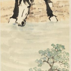 31 Xu Beihong Horse ink and color on paper 109.6 x 36.1cm 1948 in the collection of the National Art Museum of China 290x290 - Reproduction of Realism: Xu Beihong's 118 Representative Works Debut at NAMOC