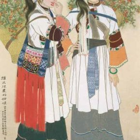 "Jiang Caiping The Girls Picking Pyracantha Fortuneana dense color on paper 1982 290x290 - ""To Love • Love: Medicine and Art are in the Same Boat"" with the Fourth Round having been held"