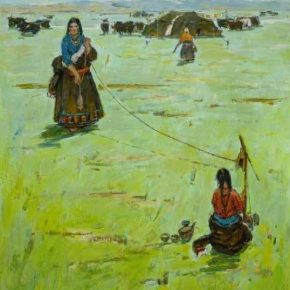 "Ma Changli Sunny Day of Grassland canvas 2013 290x290 - ""To Love • Love: Medicine and Art are in the Same Boat"" with the Fourth Round having been held"
