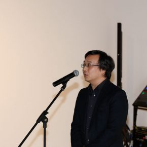 01 Ruan Jun Deputy Director of Liu Haisu Art Museum delivered a speech 290x290 - The Freedom Games Related to the Visual: Times – New Works by Li Tingting