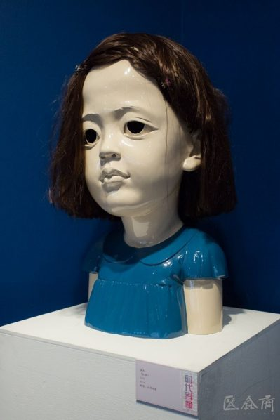 02 Jiang Jie Red Child resin spray paint artificial hair 80 cm 2006 399x598 - Jiang Jie: It is Important for Contemporary Sculpture to Communicate Ideas