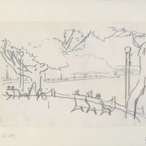 03 Ye Qianyu West Lake Series No.1 pencil on paper 15 × 21.3 cm 1984 290x290 - Ye Qianyu
