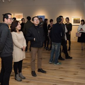 "04 From left to right artist Mi Jie curator Zhu Li Prof. Yin Ji'nan Dean of the School of Humanities at the Central Academy of Fine Arts 290x290 - Studying the Nature of Things: ""Detachment"" The Second Exhibition of CAI Young Artist Laboratory Opened"