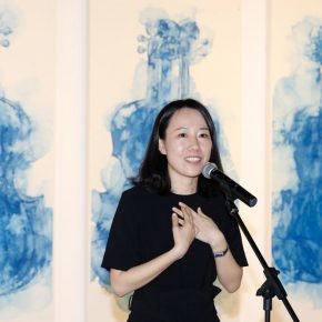 04 The artist Li Tingting delivered a speech 290x290 - The Freedom Games Related to the Visual: Times – New Works by Li Tingting