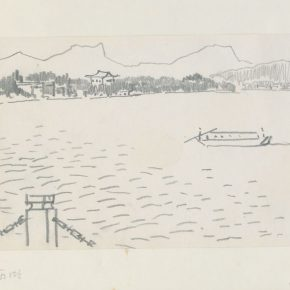 04 Ye Qianyu, West Lake Series No.2, pencil on paper, 15 × 21.3 cm, 1984