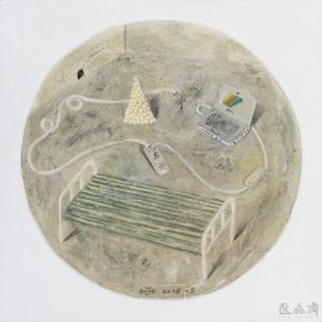 Mi Jie, Night No. 4, 2015; Acrylic on canvas, 30x30cm