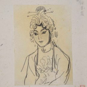07 Ye Qianyu Xin Feng Xia the Actress of Pingju pencil on paper 23.5 × 17 cm 290x290 - Ye Qianyu