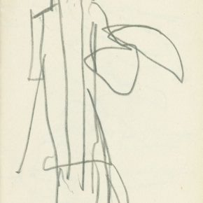 08 Ye Qianyu, Peony Pavilion Series No.20, pencil on paper, 15.5 × 10.3 cm, in the 1960s