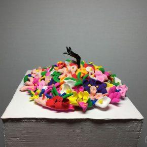 Sun Yitian, Swamp of Flowers, 2016; Mixed media, 12x12cm