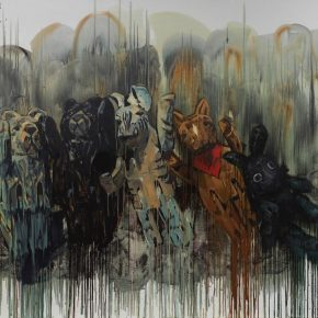 "22 Chen Xi Carnival 210 x 260 cm oil on canvas 2016 290x290 - Deconstructing the Self and Running Forward: ""Rabbit on the run"" Chen Xi's New Works Kicked Off at Beijing Minsheng Art Museum"