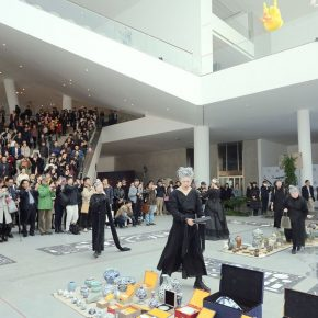 """24 A performance at the opening ceremony 290x290 - The Large-Scale Comprehensive Art Project """"Qiu's Notes on the Colorful Lantern Scroll Project"""" Has Finished"""