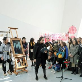"""26 A performance at the opening ceremony 290x290 - The Large-Scale Comprehensive Art Project """"Qiu's Notes on the Colorful Lantern Scroll Project"""" Has Finished"""